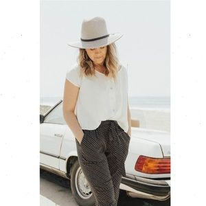 Carly Jean Los Angeles Zumba Wide Brim Woven Hat